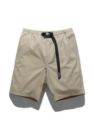 福禄克11英寸长款皮条/束带短裤FSP017C101(米色)