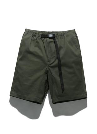 福禄克11英寸长款皮条/束带短裤FSP017C101(黄褐色)