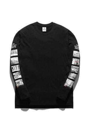 福禄克盖斯长款长袖T恤衫FLT017C500