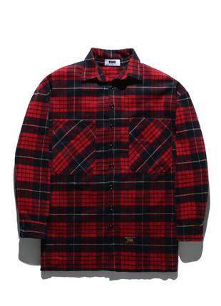 福禄克格子kaesimilron超大的衬衫FLS017Z303