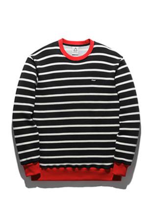 福禄克插花条纹卫衣T恤FMT017C351