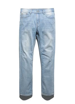 福禄克柠檬水水洗牛仔裤FDP018C105