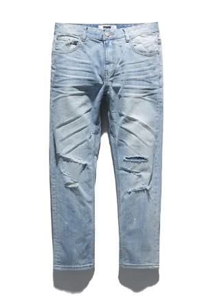 福禄克漂白牛仔裤剪裁漆FDP018C110