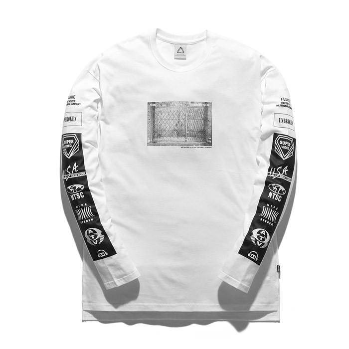 福禄克市中心长款长袖T恤衫FLT017C501