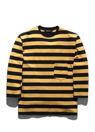 舞会这TUBI条纹长款长袖T恤衫TOB18ZLT500
