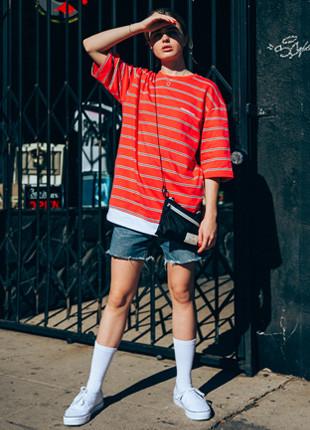 福禄克国际分层宽松款5件短袖Ť恤衫FOT018C551